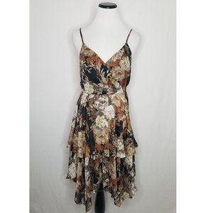 Xhilaration Floral Tiered Handkerchief Dress